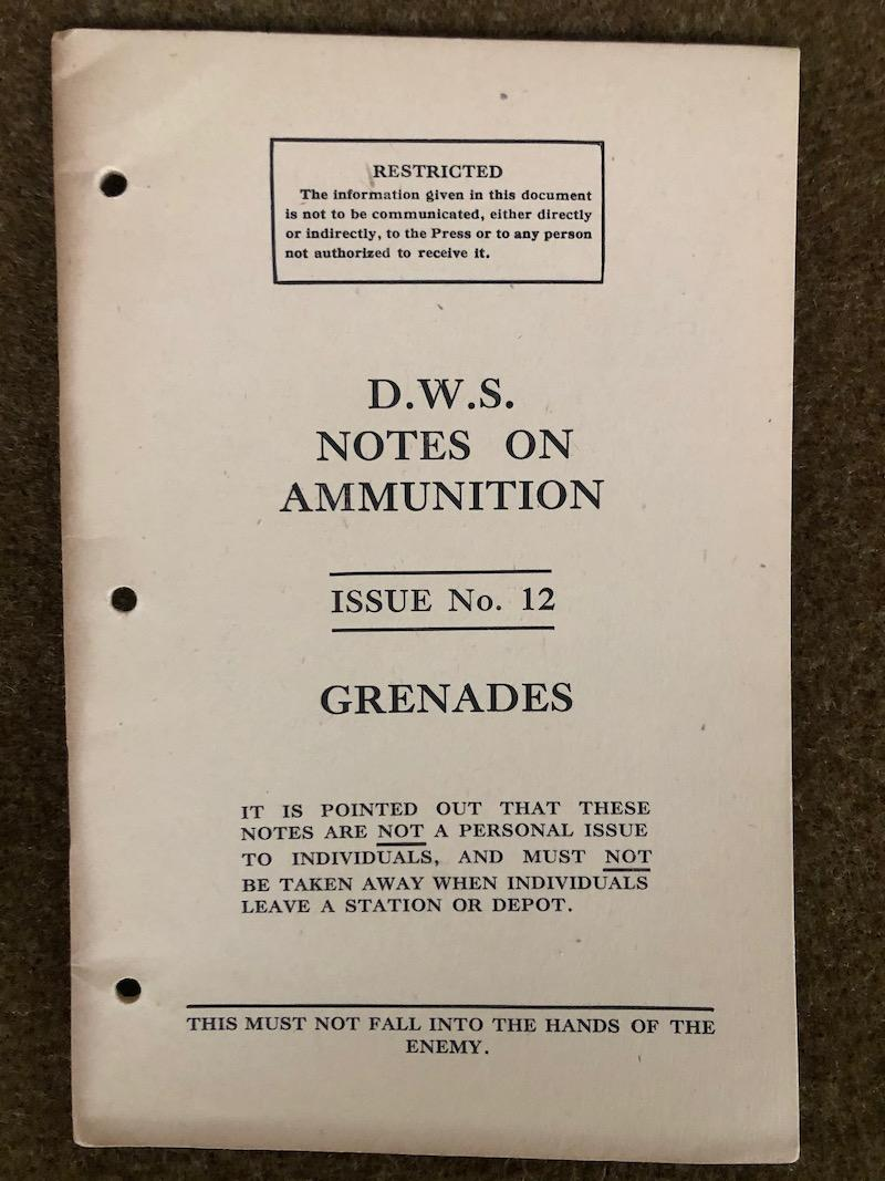 Rare WWII Grenades Manual